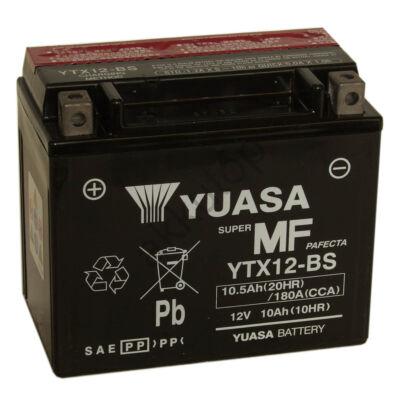 YUASA 12V 10 Ah YTX12-BS bal+ AGM akkumulátor