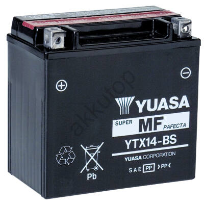 YUASA 12V 12 Ah bal+ AGM ( YTX14-BS )