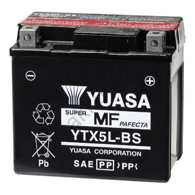YUASA 12V 4 Ah YTX5L-BS jobb+ AGM akkumulátor