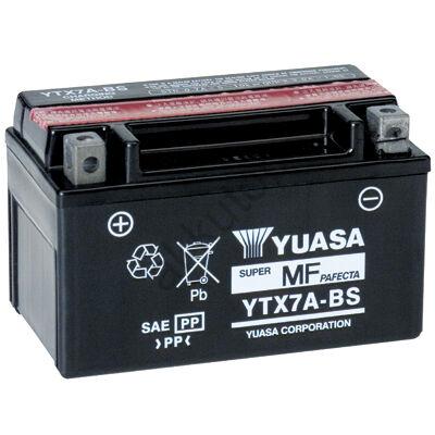 YUASA 12V 6 Ah YTX7A-BS bal+ AGM akkumulátor