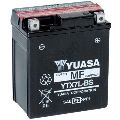 YUASA 12V 6 Ah YTX7L-BS jobb+ AGM akkumulátor