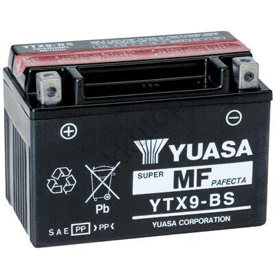 YUASA 12V 8 Ah YTX9-BS bal+ AGM akkumulátor