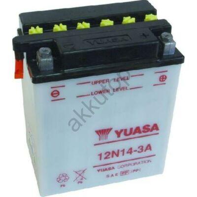 YUASA 12V 14 Ah 12N14-3A jobb+ akkumulátor