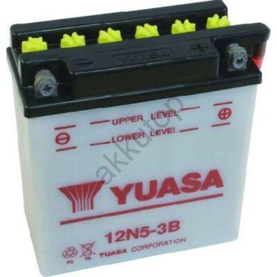 YUASA 12V 5 Ah 12N5-3B jobb+