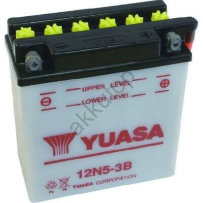 YUASA 12V 5 Ah 12N5-3B jobb+ akkumulátor