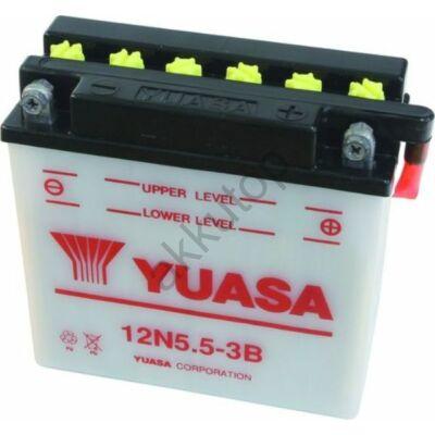 YUASA 12V 5,5 Ah 12N 5,5A-3B jobb+ akkumulátor