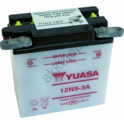 YUASA 12V 9 Ah 12N9-3A jobb+ akkumulátor