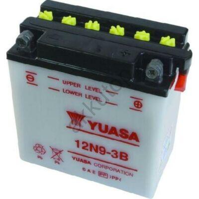 YUASA 12V 9 Ah 12N9-3B jobb+ akkumulátor