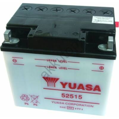 YUASA 12V 25 Ah 52515 jobb+ akkumulátor