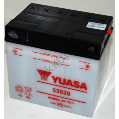 YUASA 12V 30 Ah 53030 jobb+ akkumulátor