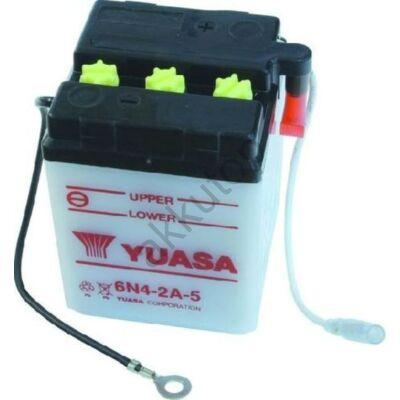 YUASA 6V 4 Ah 6N4-2A-5 jobb+