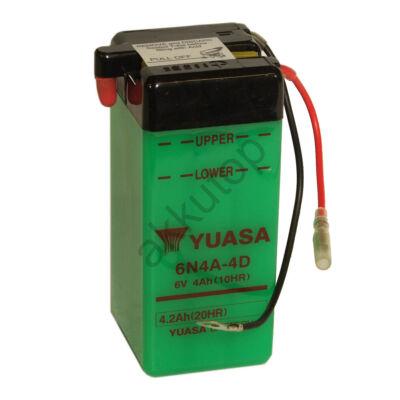 YUASA 6V 4Ah 6N4A-4D jobb+ akkumulátor