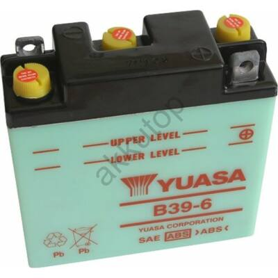 YUASA 6V 7 Ah B39-6 jobb+