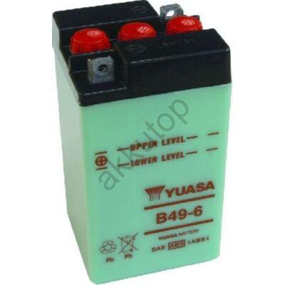 YUASA 6V 8 Ah B49-6 bal+ akkumulátor