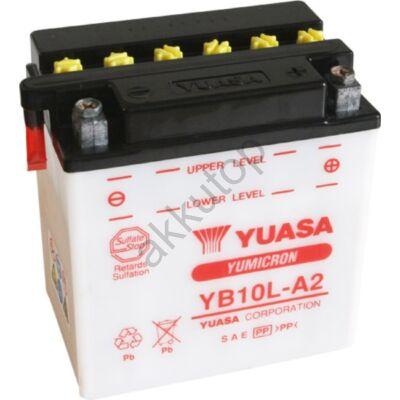 YUASA 12V 11 Ah YB10L-A2  jobb+ akkumulátor