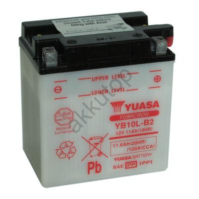 YUASA 12V 11 Ah YB10L-B2  jobb+ akkumulátor