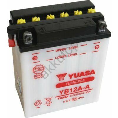YUASA 12V 12 Ah YB12A-A bal+ akkumulátor