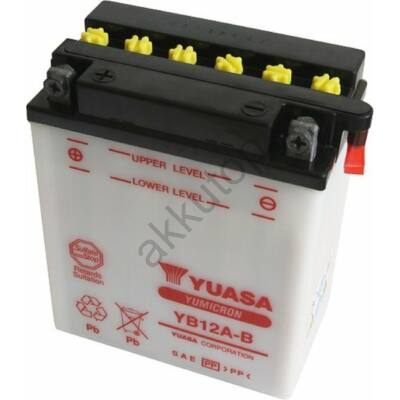 YUASA 12V 12 Ah YB12A-B bal+  akkumulátor