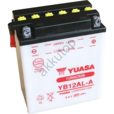 YUASA 12V 12 Ah YB12AL-A jobb+ akkumulátor