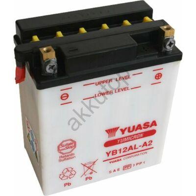 YUASA 12V 12Ah YB12AL-A2 jobb+ akkumulátor