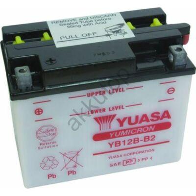 YUASA 12V 12 Ah YB12B-B2 bal+ akkumulátor