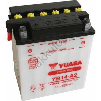 YUASA 12V 14 Ah YB14-A2 bal+ akkumulátor