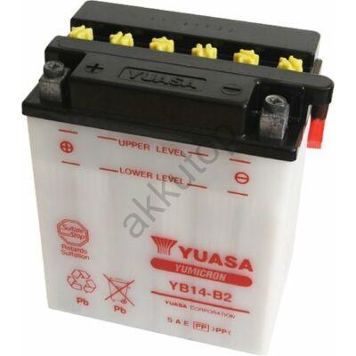 YUASA 12V 14 Ah YB14-B2  bal+ akkumulátor