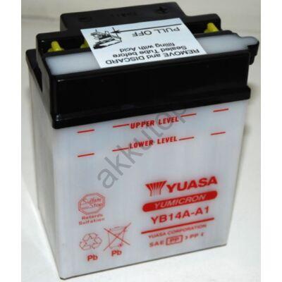 YUASA 12V 14Ah YB14A-A1 bal+ akkumulátor