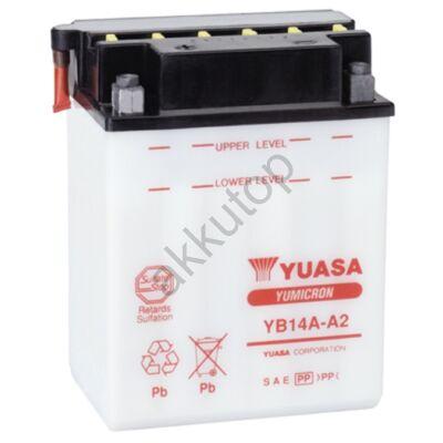 YUASA 12V 14 Ah YB14A-A2 bal+ akkumulátor