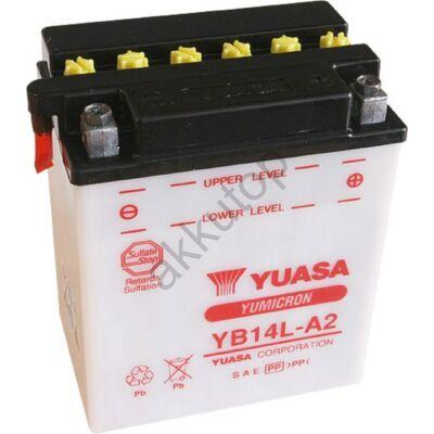 YUASA 12V 14 Ah YB14L-A2 jobb+ akkumulátor