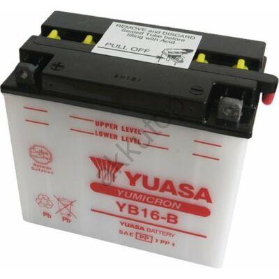 YUASA 12V 19 Ah YB16-B bal+ akkumulátor