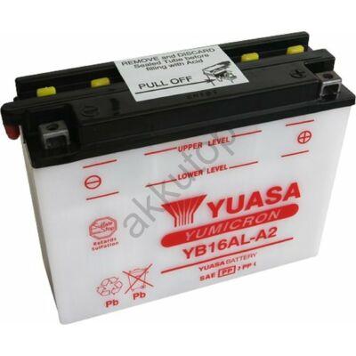 YUASA YB16AL-A2 jobb+