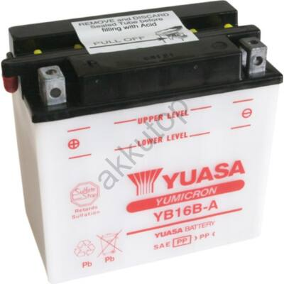 YUASA 12V 16 Ah YB16B-A bal+