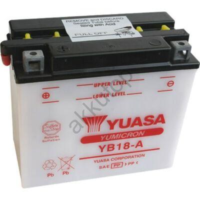 YUASA 12V 18 Ah YB18-A bal+ akkumulátor
