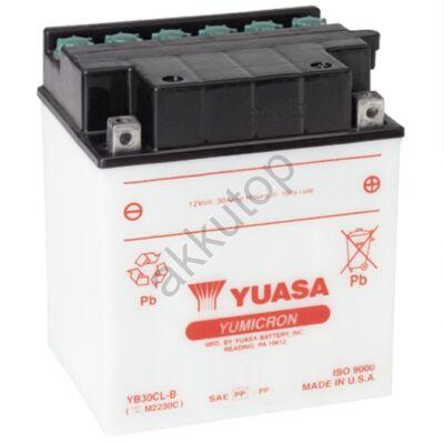 YUASA 12V 30 Ah YB30CL-B jobb+ akkumulátor