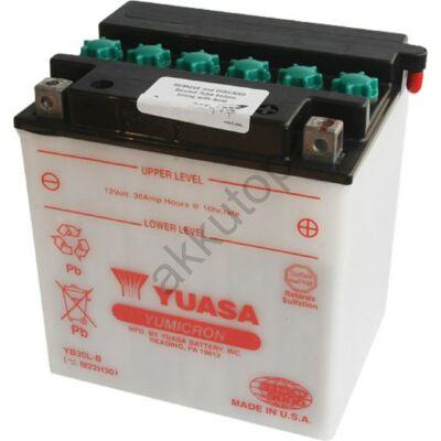 YUASA 12V 30Ah YB30L-B jobb+ akkumulátor
