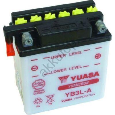 YUASA 12V 3 Ah YB3L-A jobb+  akkumulátor