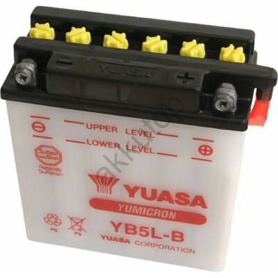 YUASA 12V 5 Ah YB5L-B jobb+