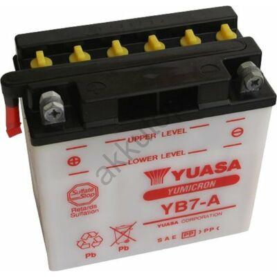 YUASA 12V 8 Ah YB7-A bal+ akkumulátor