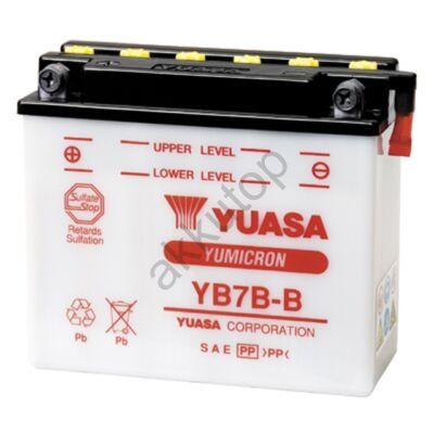 YUASA 12V 7 Ah YB7B-B bal+ akkumulátor