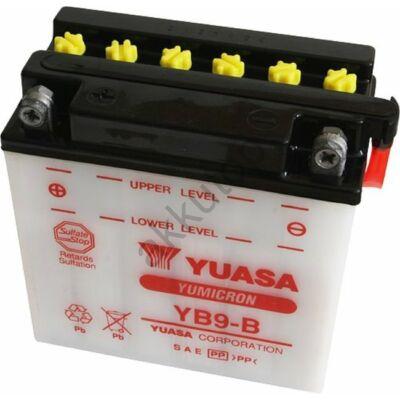 YUASA 12V 9 Ah YB9-B bal+ akkumulátor