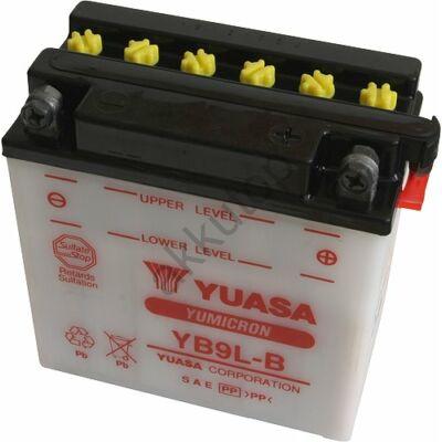 YUASA 12V 9 Ah YB9L-B jobb+ akkumulátor