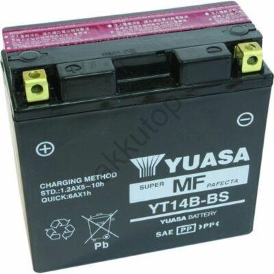 YUASA 12V 12 Ah YT14B-BS bal+ AGM akkumulátor