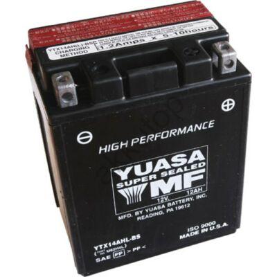 YUASA 12V 12 Ah YTX14AHL-BS jobb+ AGM akkumulátor