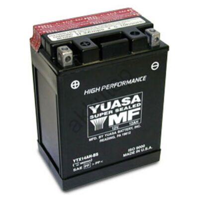 YUASA 12V 12 Ah YTX14AH-BS bal+ AGM akkumulátor