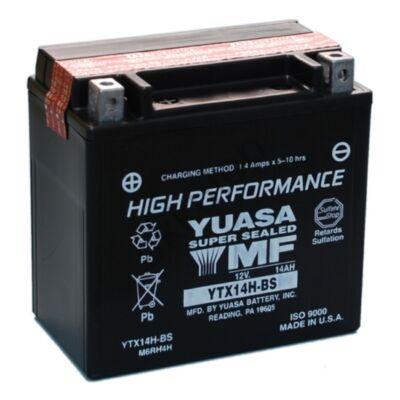 YUASA 12V 12 Ah YTX14H-BS bal+ AGM akkumulátor
