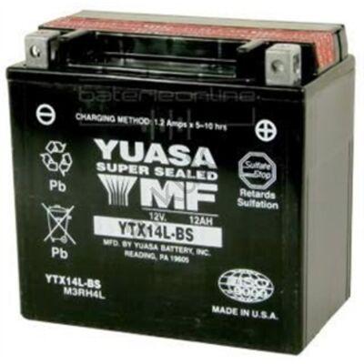 YUASA 12V 12 Ah YTX14L-BS jobb+ AGM akkumulátor