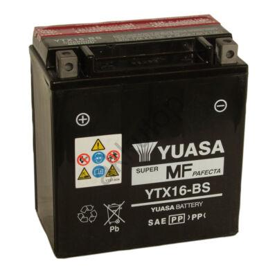 YUASA 12V 14 Ah YTX16-BS bal+ AGM akkumulátor