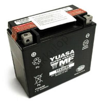 YUASA 12V 18 Ah YTX20-BS bal+ AGM akkumulátor