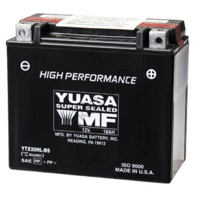 YUASA 12V 18 Ah YTX20HL-BS jobb+ AGM akkumulátor